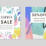 Постер, плакат: Set of creative Social Media Sale headers or banners Vector
