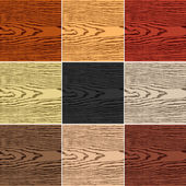 9 colors wood texture background Set 05 Empty realistic plank with annual years circles Blank natural pattern swatch template Backdrop size square format Vector illustration design elements 10 eps