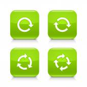 4 white arrow green icon set