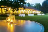 Svatební hostinu večeře venkovní