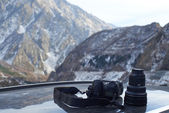 Professional photo camera for landscape photography