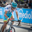 Постер, плакат: Cervinia Italia 29 May 2015 Fabio Aru tackles the last climb before before winning a stage