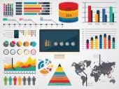Vektorové ilustrace infographic elementů