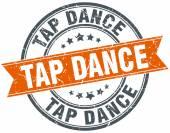 TAP dance kulaté oranžové výstřední vintage izolované razítko