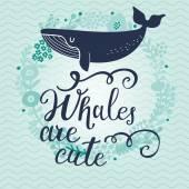 Scheda sveglia del fumetto della balena blu