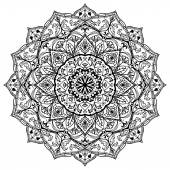 Medieval black and white mandala.