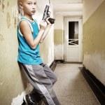 Постер, плакат: Armed boy