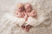 Alvó baba ikerlány