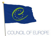 Illustration vector file council of europe flag
