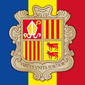 Illustration vector file andorra coat of arms