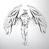 Ember angyal illusztráció