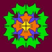 Abstraktní barevné souměrné obrazce