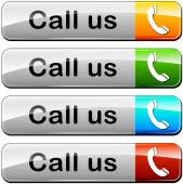 Illustration of various colors set for call us buttons