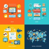 Social media and network connection concept