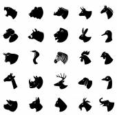 Animal silhouette collection icons in eps10