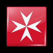 Flag of Malta Glossy Icons Square Shape This is File from the Collection European Flags