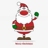 Vector illustration of cute cartoon Santa Claus
