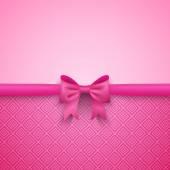 Růžový romantický vektorové pozadí s roztomilý luk a vzor
