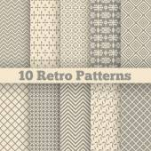 10 Retro different seamless patterns Vector illustration for beauty design Shades of beige color Endless texture can be used for fawn wallpaper pattern fill web page background