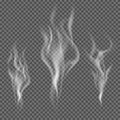 Realistický kouř vektor na průhledné pozadí