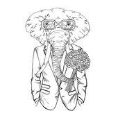Slon ve smokingu