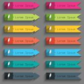 Feather sign icon Retro pen symbol Set of colored buttons Vector illustration