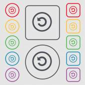 Upgrade arrow update icon sign symbol on the Round and square buttons with frame Vector illustration