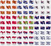 Republika Makedonie, Marshallovy ostrovy, Jižní Korea, ostrov man, Togo, Georgia a sendvič, Indonésie, Srbsko, Izrael. Velká sada 81 příznaků. Vektor