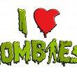 Постер, плакат: I love zombies sticker