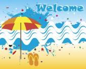 Úvodní banner s motivem abstraktní moře