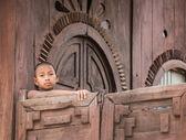 Barmský buddhistický nováček v Mandalay
