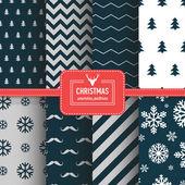 Set of simple retro Christmas patterns