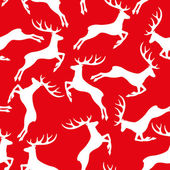 Deer on red pattern for seamless background