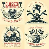 Motocykl detailní znak sady