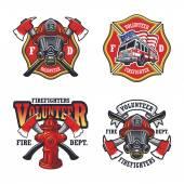 Sada hasič emblémy