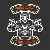 Klasické motorkářské výšivka