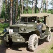 Постер, плакат: Retro car Dodge WC 52 at the 3rd international meeting of Motors of war near the town of Chernogolovka Moscow region Dodge WC 52