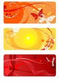 Summer backgrounds set