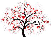 Dvoubarevné dekorativní strom se srdíčky