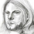 Постер, плакат: Picture of Kurt Cobain pencil