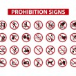 ������, ������: Set of prohibition signs