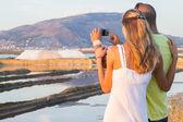 Turisté s foto na Slanovodní