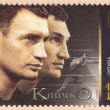 Постер, плакат: Postage stamp depicting portraits of the Klitschko brothers