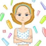 Постер, плакат: Girl with problem skin