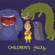 Постер, плакат: Childrens fears poster