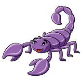 Illustration of cute cartoon scorpion