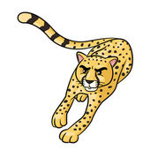 Illustration of cute cartoon cheetah