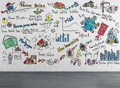 Strategie, kresba na zdi