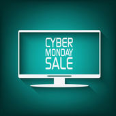 Cyber monday promotional banner or poster for discounts advertisement Eps10 vector illustration