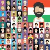 Az emberek ikonok, arcok